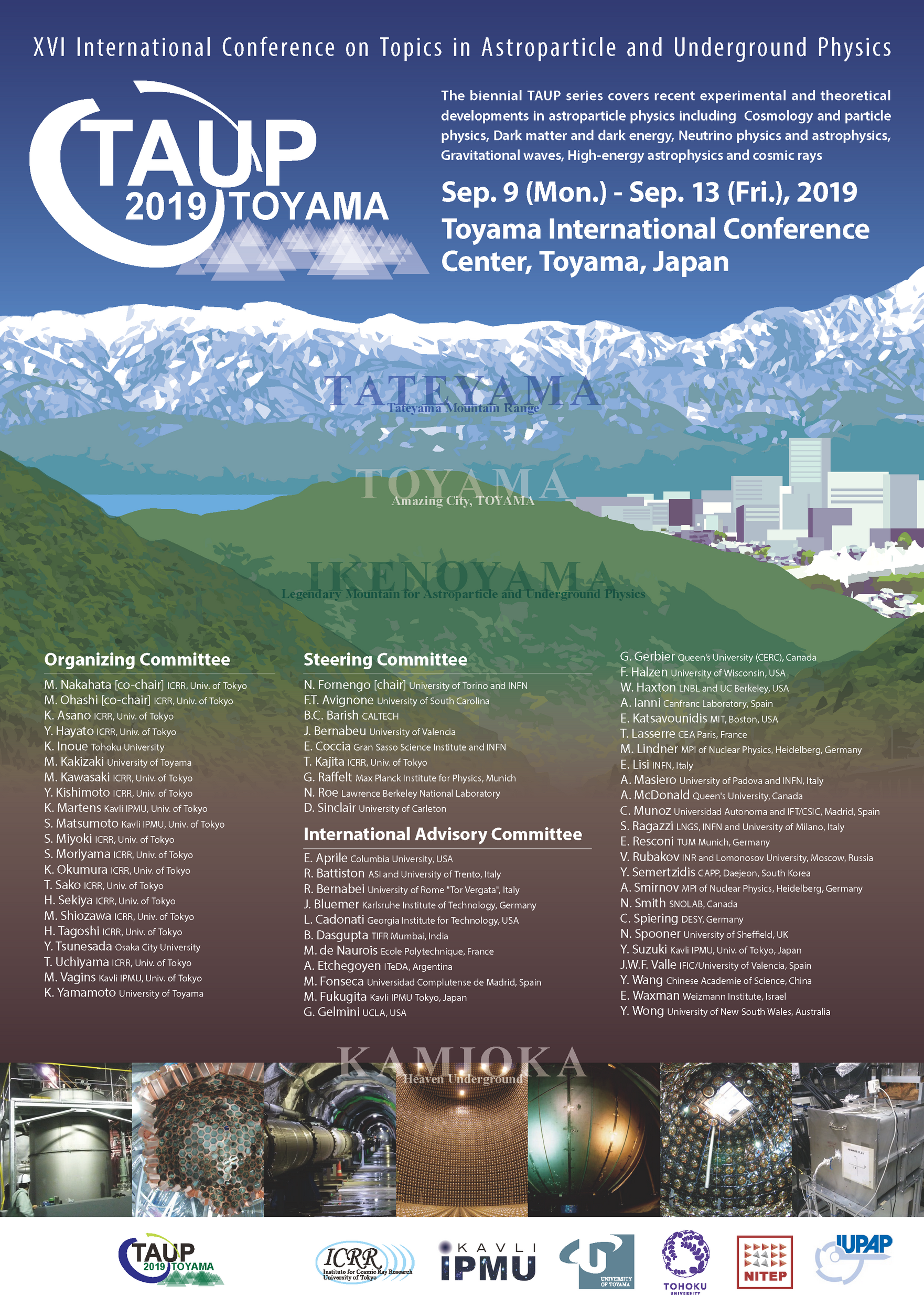 TAUP 2019 in Toyama